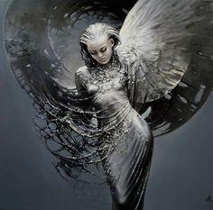 """Has father from Heaven Sent the Angel to me?"" ― E.A. Bucchianeri ~ Artist Karol Bak"