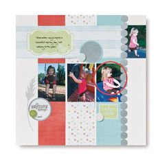 Welcome Spring - Spring Addition #Scrapbook Layout from Creative Memories    www.creativememor...
