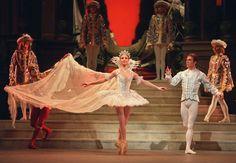"Alina Cojocaru and Johan Kobborg in Act III of Sir Frederick Ashton's ""Cinderella"" at the Royal Opera House, December 20th, 2003. Photo by Dee Conway."