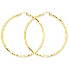 14K Polished 2.5mm Lightweight Round Hoop Earrings | Your #1 Source for Jewelry and Accessories