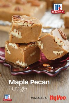 Penuche Fudge, Small Desserts, Maple Pecan, Pecans, Baking Pans, Fall Recipes, Holiday Gifts, Sweet Tooth, Sweet Treats