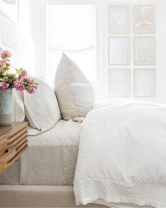 Zara Home, Pottery Barn, White Duvet, Gray Comforter, Decor Inspiration, Pretty Bedroom, White Bedroom, Comfy Bedroom, Linen Duvet