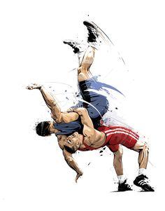 Wrestling Tattoos, Wrestling Quotes, Wrestling Posters, Wrestling Singlet, Olympic Wrestling, Wrestling Team, Wrestling Workout, College Wrestling, Art Of Fighting
