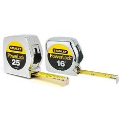 Stanley PowerLock 25 ft. and 16 ft. Tape Measures (2-Pack) Was: $49.99 Now: $15.99.
