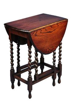 Small English Oak Gate Leg Barley Twist Table. This little table was a SUPER buy at Scott Antique Market in Atlanta