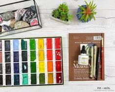 How to Paint Easy Watercolor Flowers Tutorial - Fox + Hazel for Dawn Nicole Designs 1