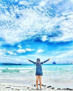 보라카이 오늘이 마지막  바다와 하늘이 정말그림 같은 나라!!!! 너무좋아욤!!나중에또올수잇음 또올께  바이보라카이♡♡ #보라카이#여행스타그램#하늘#바다#그림#한폭에그림#힐링#추억#화이트비치#푸카비치