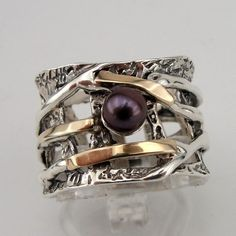 Silver and Gold Ring by Jewela on etsy