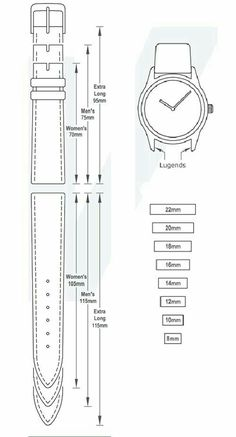Watch strap pattern
