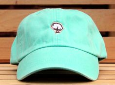 Mint baseball hat from The Southern Shirt Company