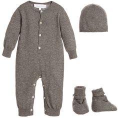 Tartine et Chocolat - 3 Piece Grey Cashmere Baby Gift Set   Childrensalon