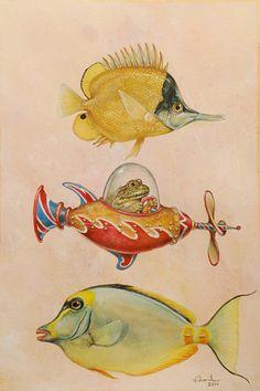Wallace Edwards   WATERCOLOR - COLORED PENCIL - GOUACHE   Deep Beauty