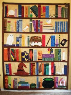 HP Bookcase Quilt