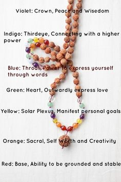 Find out the #chakra meanings! Check out out our styles of chakra malas. ~☆~