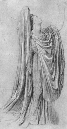 Study for the figure of france in the apotheosis of napoleon by ingres, drawing Drawing Studies, Art Studies, Life Drawing, Figure Drawing, Realistic Drawings, Art Drawings, Line Artist, Toned Paper, Religion