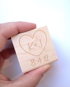 Custom Stamp 15x15  Romantic Heart with by AproposRoasters on Etsy, $22.00