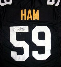 72358b7cb Jack Ham Autographed Pittsburgh Steelers Jersey HOF 88 PSA DNA .  129.00.  This is