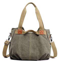 3f201b7a77 Women s Ladies Casual Vintage Hobo Canvas Daily Purse Top Handle Shoulder  Tote Shopper Handbag Canvas Handbags