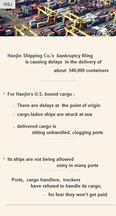 Hanjin Shipping Co. filed for bankruptcyprotection #Investor #Funding #Startups #VC http://arzillion.com/S/8jbsHm