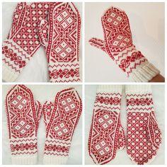 Johanna votten Sock Knitting, Fair Isle Knitting, Knitting Machine, Knit Socks, Mittens, Knitting Patterns, Gloves, Crochet, Pretty