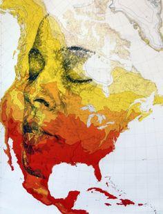 The Map Art Of Ed Fairburn | purple woods