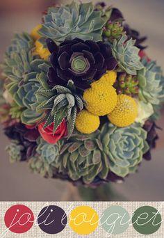 Bouquet+de+mariée+{jolies+cactées}