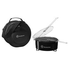 BBQ in style: Mercedes-Benz barbecue and cool bag.