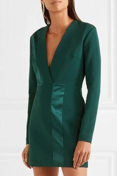 4fc09c4813 Dion Lee - Silk satin-paneled jersey mini dress