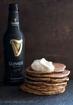 Super Easy Guinness Pancakes. Just 4 ingredients!
