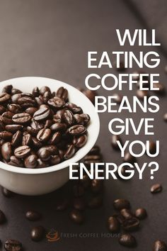 Love the smell of coffee beans? I certainly do! Do you ever pop a coffee bean in your mouth as you grind your java? I started to notice a boost from chewing coffee beans. I began to wonder if eating coffee beans can have the same effect as drinking a cup of joe. Yes, eating coffee beans does give you a boost of energy. In fact, eating coffee beans allows caffeine to enter your system faster than from a cup of coffee. #coffee Coffee Cream, Coffee Type, Black Coffee, Types Of Coffee Beans, Green Coffee Bean Extract, Decaf Coffee, Acquired Taste, Coffee Accessories, Coffee Benefits