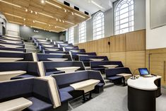 Burwell Deakins Collaborative learning lecture theatre Theatre Architecture, Architecture Design, Auditorium Design, Lecture Theatre, Luxury Dining Tables, Theatre Design, Signage Design, Learning Spaces, Home Office Design