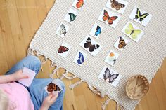 gorgeous 2-part butterfly printable cards