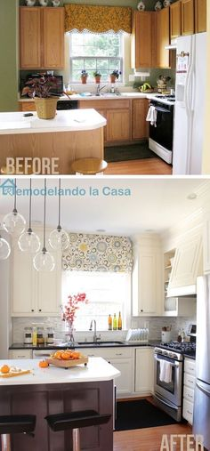 Remodelando la Casa: Same cabinets and island - Kitchen re-do on a budget.