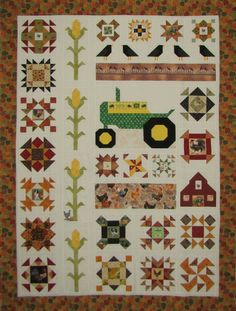 18 Trendy ideas for baby boy quilts farm Tractor Quilt, Farm Quilt, Colchas Quilt, Patch Quilt, Quilt Blocks, Baby Boy Quilts, Girls Quilts, Quilting Projects, Quilting Designs