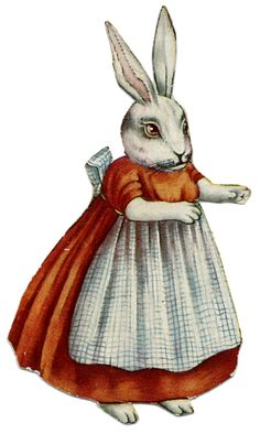 La Bande des Faineantes: Vintage Printable - Rabbits - Easter
