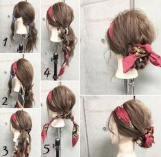 How to Make Adorable Hairstyles with Scarf. Gorgeous Korean Wedding Hairstyles.---Get #hairextension from @kinghaircom to have longer, fuller and thicker hair! 100% premium hair extension adds hair volumes and lengths in minutes.Refresh your daily hair looking at www.kinghair.com