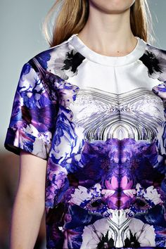 Prabal Gurung love the print the texture and the shine on the fabric.
