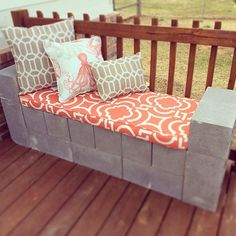 Concrete, or cinder block, is an inexpensive and organic building material for the garden. Easily picked up at your local home improvement store, with a little creativity you can use it to create gard