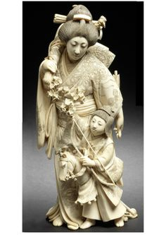 This beautiful okimono of a Bijin & her Son with a hobby horse(30cm) is to be sold at Bonhams London on 15 May 2014. Anyone with £10000- £15000 to spare? Sold for £11250.