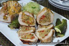 Filé Peito de Frango Recheado com Quinoa » Aves, Receitas Saudáveis » Guloso e Saudável