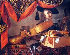 11 Evaristo Baschenis (1601-1677) & Salomon Adler (ca 1630-1709). Milan Accademia di Brera.