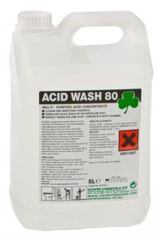 Acid Wash 80 by Clover. A powerful acidic cleaner, perfect for removing severe scale where a deep clean is required.