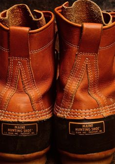 """ragingsartorialist: Need these on a day like today. My Maine """"Bean/Hunting"""" boots…. Me Too Shoes, Men's Shoes, Shoe Boots, Ll Bean Boots, Fashion Shoes, Mens Fashion, Hunting Boots, Dapper Gentleman, Plaid Shirts"""