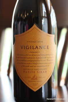 Vigilance Petite Sirah 2010 - More Lake County Goodness. Blackberry, spice and everything nice! $17, http://www.reversewinesnob.com/2012/10/vigilance-petite-sirah-2010.html