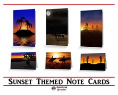 Sunrise / Sunset Greeting and Note Cards - Blank-inside for your personal message at Redbubble! by #Gravityx9 Designs