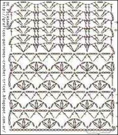 PATRONES - CROCHET - GANCHILLO - GRAFICOS: LINDOS PUNTOS TEJIDOS A CROCHET PARA SEGUIR GUARDANDO EN NUESTRA COLECCION DE PUNTOS