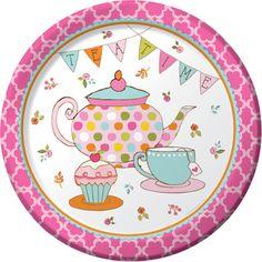 Tea Party Time Dinner Plates 8pk