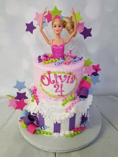 37 ideas of best birthday cake Barbie 2019 Cool Birthday Cakes, Birthday Cake Girls, 7th Birthday, Birthday Parties, Bolo Barbie, Barbie Birthday, Topper, Fashion Cakes, Girl Cakes