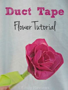 duct tape rose flower tutorial #diy #ducttape Duct Tape Pens, Duct Tape Rose, Duct Tape Flowers, Duct Tape Projects, Duck Tape Crafts, Diy Craft Projects, Crafts For Teens, Diy For Teens, Kids Crafts