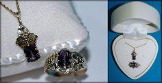 Vintage Amethyst in 14K Gold ~ SZ 7 ¼  Ring & Pendant Set #Unbranded